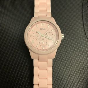 Guess? Woman's Pink Chronograph Watch
